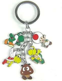 Super Mario Metal Charm Keychain (Goomba, Yoshi, Toad, Koopa Paratroopa, Koopa Troopa)