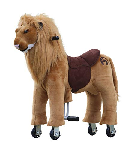 Medallion My Pony Ride On Real Walking Horse for Children 3 to 6 Years Old or Up to 65 Pounds (Color Small Lion) for Boys and Girls