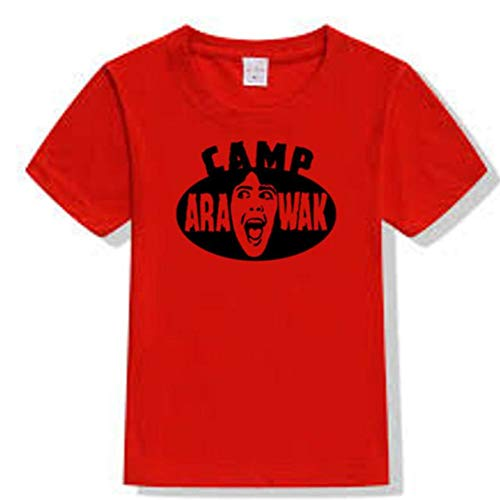 Merch Massacre Sleepaway Camp Arawak Killer Slasher Eighties 80s Sleep Away T-Shirt (Small) Red