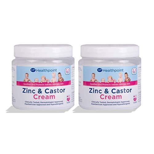 HP HealthPoint Zinc & Castor Oil Cream 225g Multi Pack [x2]