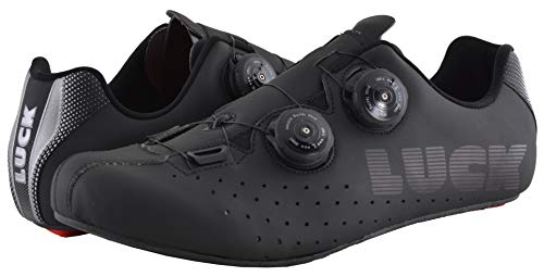 Zapatillas Bicicleta Carretera Luck (Negro, Numeric_48)