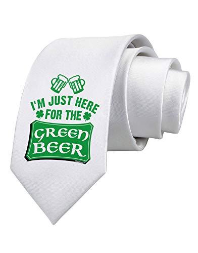 Nur hier für die Green Beer Printed White Neck Tie