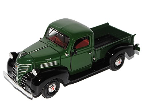 Motormax Plymouth 1941 Truck Pick-up Pritsche GrÜn Oldtimer 1/24 Modellauto Modell Auto