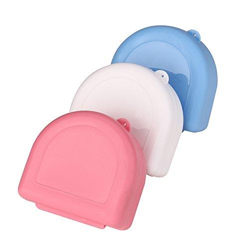 ☀ Dergo ☀Denture Bath Appliance False Teeth Box Storage Case Rinsing Basket