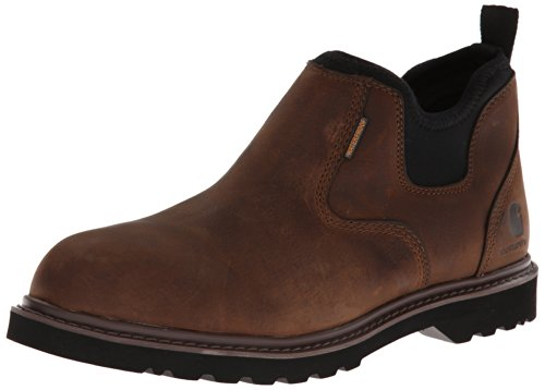 """Carhartt Men's 4"""" Romeo Non Safety Toe Waterproof Breathable Pull-On Boot CMS4190, Dark Bison Oil Tanned, 12 M US"""