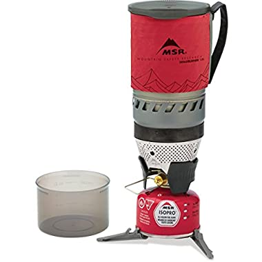 MSR WindBurner Personal Stove System, 1.0-Liter, Red