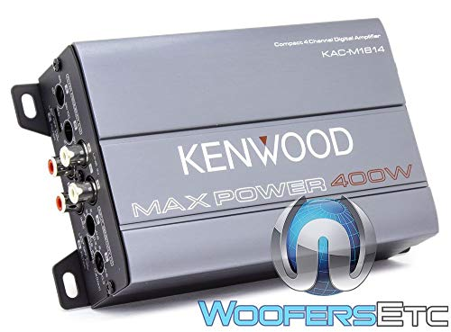 Kenwood KAC-M1814 4-Channel Compact Bridgeable Marine/Motorsports 400W...