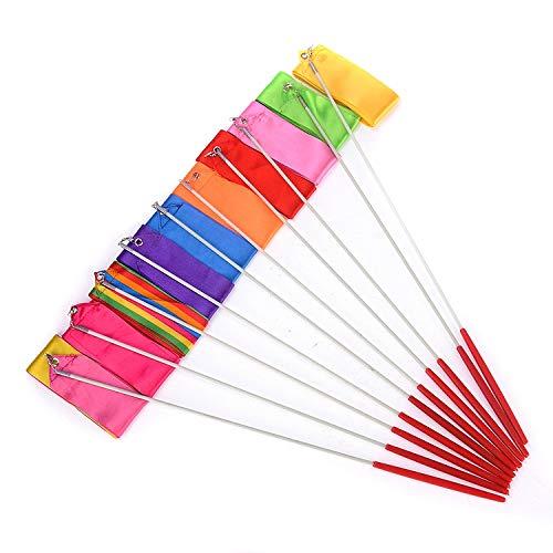 10 Colors Rhythmic Gymnast Ribbons 4M Ribbon Wands 10 PCS Gym Ribbons