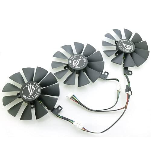 YUXIwang USB Mini Fan Nuevo PLD09210S12M PLD09210S12HH 87mm Ventilador de enfriamiento VGA para ASUS RX VEGA56 / RX VEGA64 8GB ROG Strix Gaming Graphics Tarjeta Fan (Blade Color : PLD09210S12HH Set)
