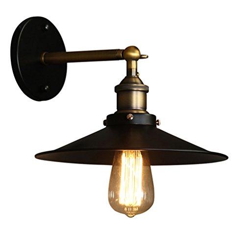 Z-W-DONG wandlamp met luidsprekers, wandlamp met scheepsdecoratie, enkele kop E27, 26 x 29 cm verlichting