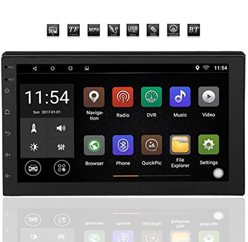 Autoradio Doppel-Din Android 8.1 Navigation Stereo Doppel Din 7 Zoll Bluetooth Audio Radio, WiFi Doppel 2 Din Autoradio Stereo Multimedia Bluetooth Player GPS 16G für Apple Android Mobiltelefone