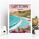 Moderne Kapstadt Südafrika Vintage Reise Poster Drucke