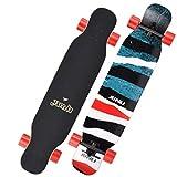 GuanMun Longboard Skateboard, Maschio e Femmina Persona Generation Beginners Youth Professional Road...