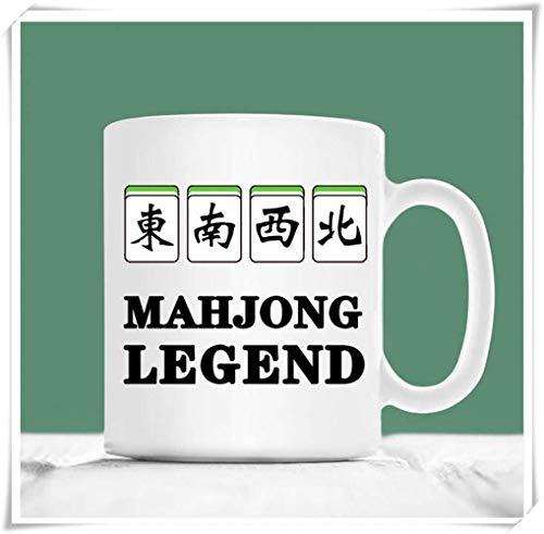 Nisdsgd Mahjong Mug, Majhong Legend, Mahjong Gift, Mahjong Themed Gifts, Mahjong Cup, 11oz Ceramic Coffee Mug, Unique Gift 3.14W x 3.74H(8x9.5cm)