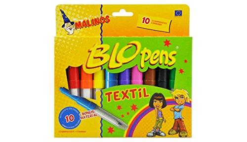 MALINOS 300991 Stifte Airbrush Textil 10er, Set