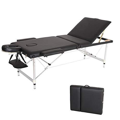 Deluxe Mobile Massageliege Massage Kosmetik Bank Ttisch klappbar höhenverstellbare Aluminiumfüße bis 150kg belastbar