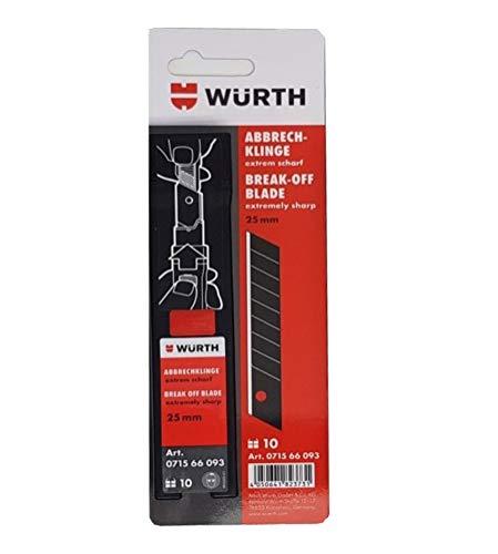 Würth 25mm Abbrechklinge 10er Pack extrem scharf Ersatzklinge für Würth Cuttermesser ( 10 x 1 Klinge )