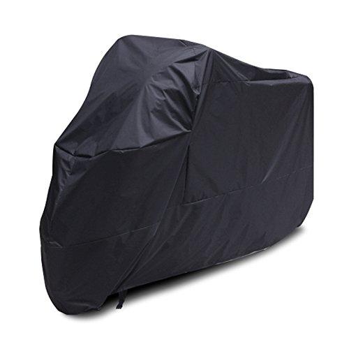 Noir Housse Imperméable pour moto Protège des UV Respirante Pour intérieur ou extérieur Avec sac de rangement Grande taille 225 x 145 cm