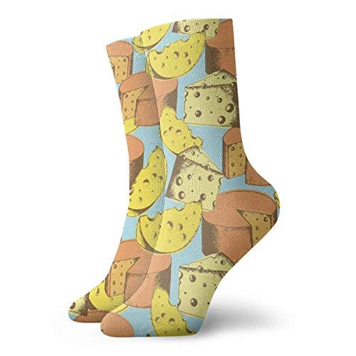 N/A Alto Rendimiento Sports Socks,Calcetines Deportivos,Ocasionales Calcetines,Calcetines Para Correr Con Control De Humedad De Queso Calcetines De Entrenamiento Transpirables Duraderos