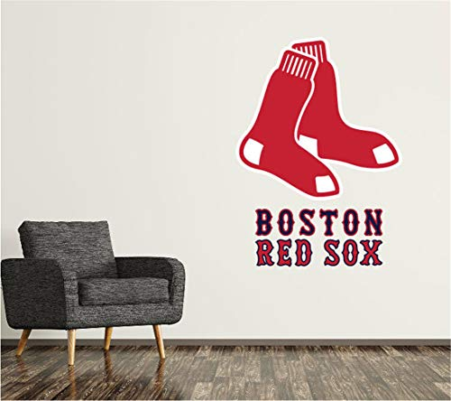Wandtattoo Boston Red Sox Wandtattoo Logo Baseball Team Zeichen Wand Dekor MLB Logo Custom Decor Aufkleber Vinyl