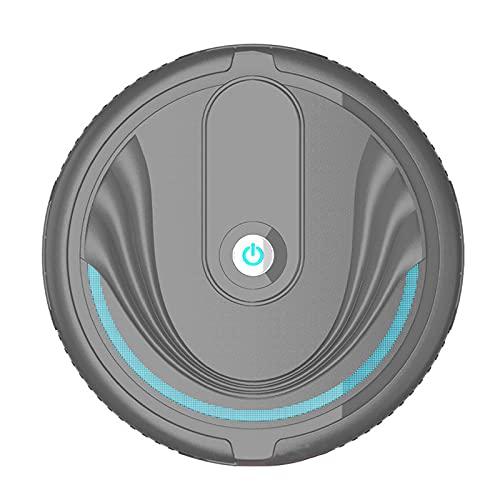 JHHXW Aspiruums robóticos, torneado automático inteligente, juguete barredoras, súper delgado, bueno para el cabello de mascotas, pisos duros, polvo (Color : Black/battery)