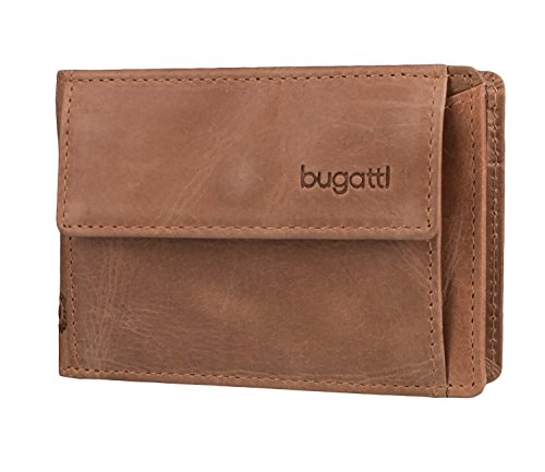 Bugatti Geldbörse Volo für Ticket, 10cm, Cognac