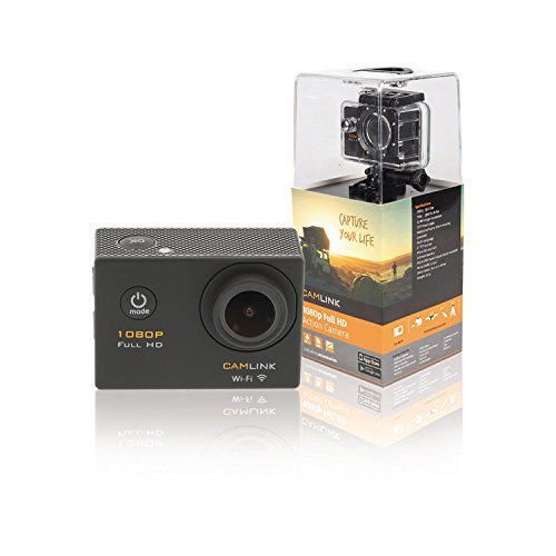 Camlink Full HD Action Camera 1080p WiFi 5,08 cm (2 inch) zwart