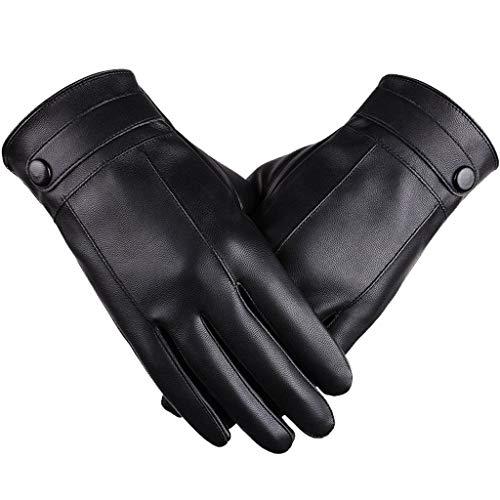 ☀ Dergo ☀ Men Gloves ,Men Leather Winter Warm Motorcycle Ski Snow Snowboard Gloves