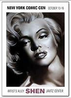 ポスター シェン マリリン シルバー 額装品 アルミ製ベーシックフレーム(ホワイト)