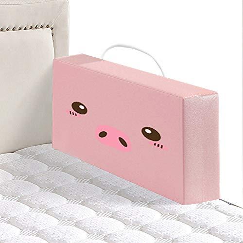 HLMIN Bettgitter Schaum-Baby-Bett-Stoßauflagen Sicherheits-Nachtschienen-Breathable Schutzschiene for Krippe Scherzt Baby (Color : Pink, Size : 60cm)