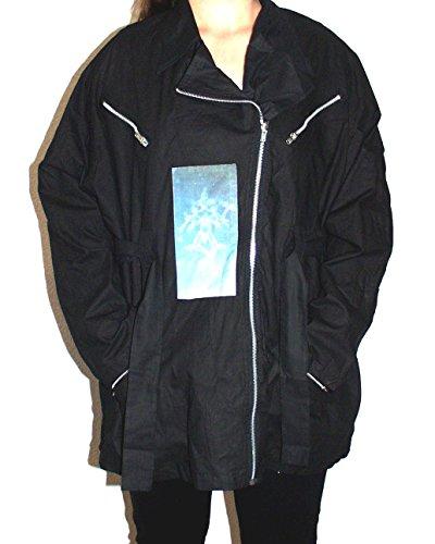 BAD TASTE Parka Übergangs-Jacke mit Hologramm-Patch Größe L schwarz Baumwolle Original 1990er Jahre Gadfly