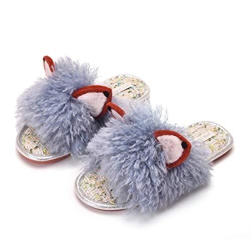 Dfghbn Zapatillas para Mujer Fleece Forrado Lindo Respirable Acogedor Memoria esponjosa Espuma Antideslizante Dormitorio al Aire Libre para Exteriores Suave (Color : Blue, Size : 39~40)
