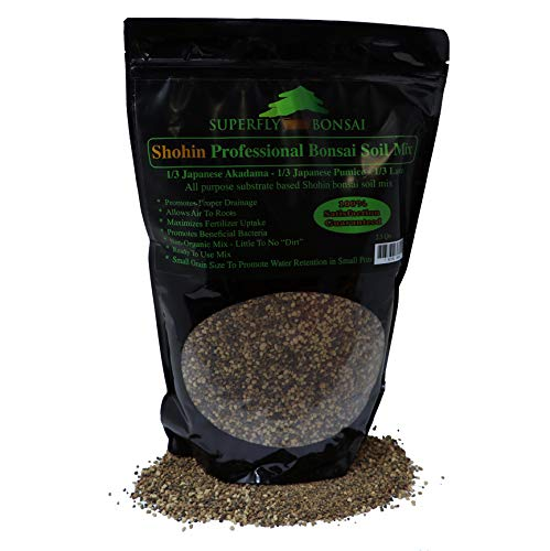 Shohin & Mame Bonsai Soil Mix for Small Trees - Premium Professional, All Purpose, Sifted and Ready to Use Tree Potting Blend - Akadama, Black Lava, Pumice -'Boons Mix' …