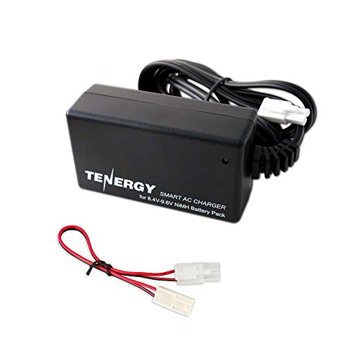 Tenergy Smart Charger for 8.4V-9.6V NiMH Battery Packs w/Mini Tamiya Connector + Standard Tamiya Adapter 01026