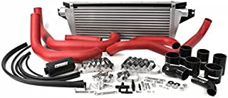 Perrin Performance 08+ Wrx Fmic Red Boost Tubes W/Black Silicone (Psp-Itr-436-2Rd/Bk)