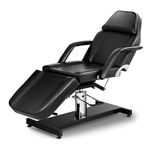 Physa Fauteuil Esthétique Cosmétique Table De Massage Lit Esthétique PHYSA VERONA BLACK (Hydraulique, 250 kg Max, Similicuir, Noir)