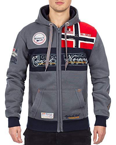 Geographical Norway Herren Sweatjacke Flyer Men Dark Grey M