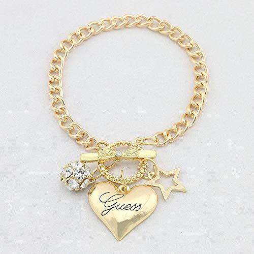 Bracelet Amour Coeur Charmes Bracelets pour Femmes Or Argent Couleur Bracelet Et Bracelet Bijoux Europe Style Américain Bijoux Cadeau Or