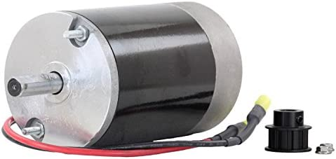 Rareelectrical New 12V DC Spinner Motor Compatible With Fisher Poly Caster 1 2 Shaft 10T Cogged product image