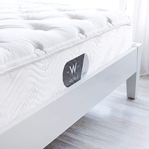 "W Hotels Pillow Top Bed - 13"" Pocket Coil Mattress with Reinforced Edge Support - Mattress and Box Spring Set - Standard Box Spring Height (9"") - King"
