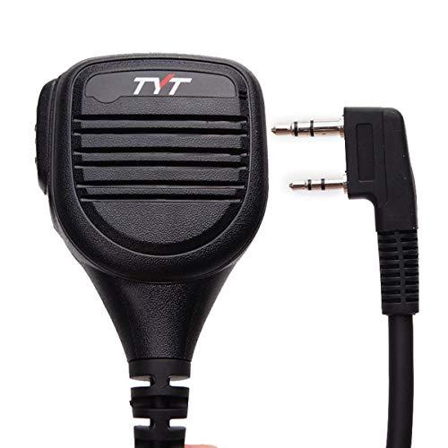 TYT Two Way Radio Remote IP54 Rainproof Handheld Speaker Mic Microphone, Remote Shoulder Mic for TYT MD-380 MD-390 TH-UV8000E BaoFeng, AnyTone, Kenwood Ham Two Way Radio Walkie Talkie