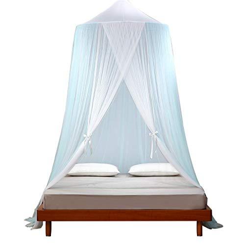 WZJN Encaje Decoración Dormitorio Dosel De La Cama,romántico Colgando Mosquitero para Camas,con Bucles Colgantes 2 Entradas Dosel De La Cama A 110 * 110 * 270(cm)