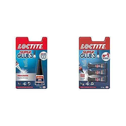 Loctite Super Glue-3 Precisión, pegamento transparente de máxima precisión, pegamento instantáneo triple resistente +...