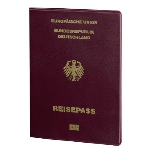 Hama Reisepass-Datenschutzhülle Berlin (Schutz vor unbefugten Auslesen von Reisepass, ePass und elektronischen Pässen, RFID Chip in der Hülle nicht auslesbar, Cryptalloy Speziallegierung) bordeaux