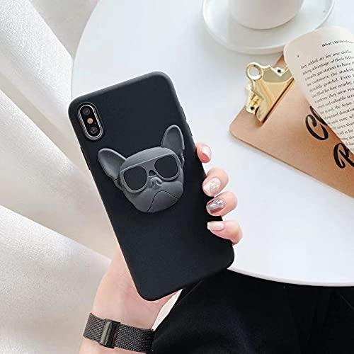 Bulldog Phone Case French Bulldog Phone Case for iPhone 6 7 8 11 12 Pro XS MAX XR X Mini Plus SE 2020 Soft Silicone Phone Cover 054
