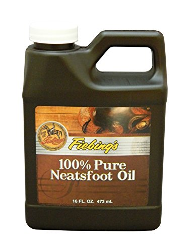 Fiebing's 100% Pure Neatsfoot Oil - Natural Leather Preservative - Great for Boots, Baseball Gloves, Saddles and More - 16 oz