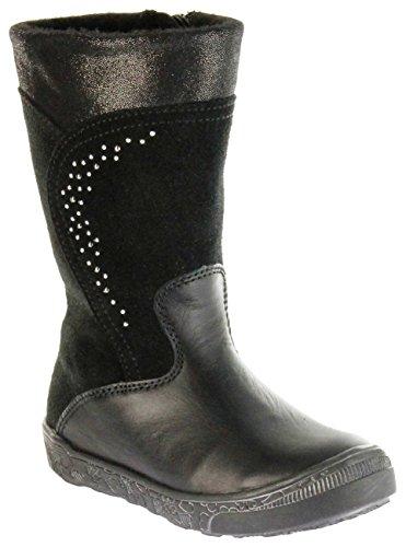 Richter Kinder Winter Stiefel schwarz Glattleder Sympatex FitMI Warm Mädchen 4154-833-9900 Black Rosy, Farbe:schwarz, Größe:33 EU