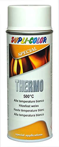 DUPLI COLOR 409348 Thermo Lack Spray, 500 Grad Celsius, 400 ml, Weiß