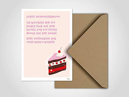 Weihnachtstorte — Weihnachtskarte, Grußkarte, Karte, Weihnachten, Torte, Kuchen, Nikolaus, lustige Weihnachtskarte, Winter, Familie, Advent