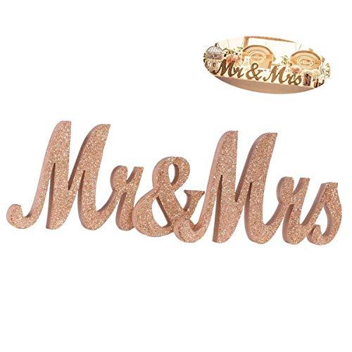TANGGER Mr & Mrs Buchstabenschmücken Hochzeit Buchstabe Schild für Hochzeit Dekoration Geschenk,Hochzeitsgeschenk